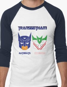 Batman and Transformers - TransGotham Men's Baseball ¾ T-Shirt