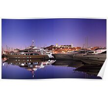 Yacht Reflection to the French Riviera Poster