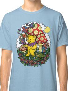 Grateful Dead dancing bear, fairy bears and mushrooms Classic T-Shirt