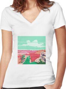 Grand Canyon Arizona WPA Women's Fitted V-Neck T-Shirt