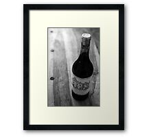 Bottle of Fine Wine Framed Print
