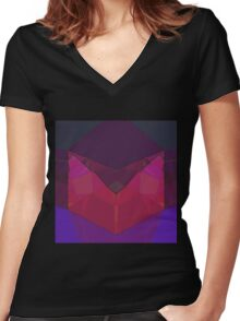 Raw Rubin Women's Fitted V-Neck T-Shirt