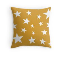Star Spangled Gold Throw Pillow