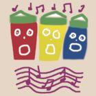 SINGING SEAHUTS TEE SHIRT/BABY GROW by Shoshonan
