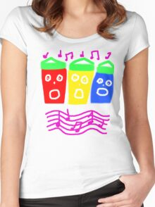 SINGING SEAHUTS TEE SHIRT/BABY GROW Women's Fitted Scoop T-Shirt