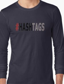 Twitter Hashtag (Black/Grey) Long Sleeve T-Shirt