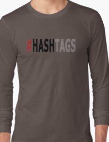Twitter Hashtag (Black/Grey) Long Sleeve T-Shirt