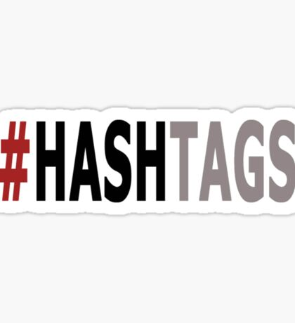 Twitter Hashtag (Black/Grey) Sticker