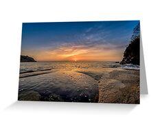 Cornish Sunrise, Charlestown, Cornwall Greeting Card