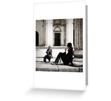 Violinista by the Columns of San Lorenzo Greeting Card