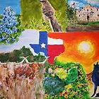 Texas State Collage by Jennifer Ingram