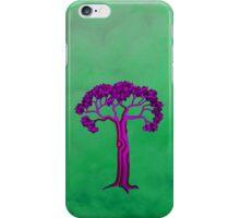 Purple tree on green 2 iPhone Case/Skin
