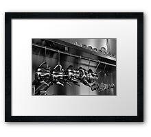hanging teapots Framed Print