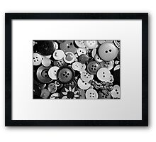 button collection Framed Print