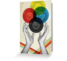 CMYK - the creation of retro Greeting Card