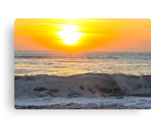 Wave at Constantine before sunset. Canvas Print