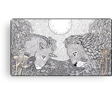 The Lion and the Unicorn Canvas Print
