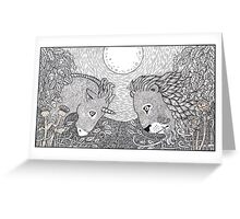 The Lion and the Unicorn Greeting Card