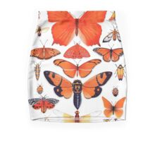 Orange Insect Collection Pencil Skirt