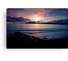 Sunset over Bolus - Co. Kerry Canvas Print