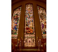 Knox United Church Stained Glass Photographic Print