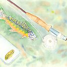 Flyrod Rainbow by David Crowell