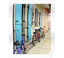 French Quarter Bike Shop Poster