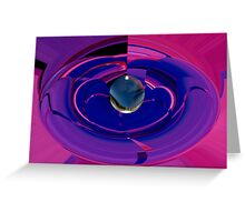 abstract 360 Greeting Card