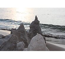 Sand Castles on Lake Michigan Photographic Print