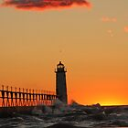 Manistee Lighthouse by Sonya Lynn Potts