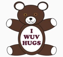 Supernatural 'I Wuv Hugs' One Piece - Short Sleeve