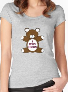 Supernatural 'I Wuv Hugs' Women's Fitted Scoop T-Shirt