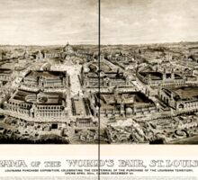 Panoramic Maps Panorama of the World's Fair St Louis 1904 Sticker