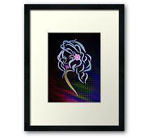 Lady Glitter Framed Print