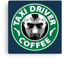 Taxi Driver Coffee. Canvas Print