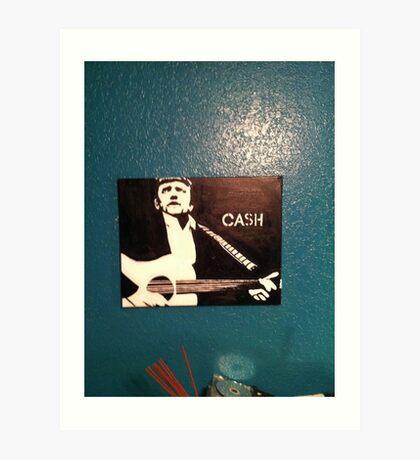 Jonny Cash Art Print