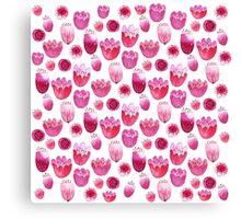 Fancy Pink Flowers Canvas Print