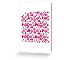 Fancy Pink Flowers Greeting Card