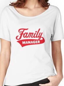Family Manager (Red) Women's Relaxed Fit T-Shirt