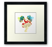 Two flies in love Framed Print
