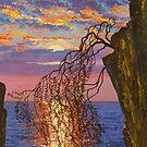 Sunset on cliff by Vrindavan Das
