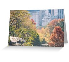 Central Park, Fall Colors, New York Greeting Card