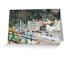 Model Trains, Model Buildings, Citicorp Train Show, New York Greeting Card