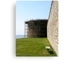 Medieval wall reconstruction Canvas Print