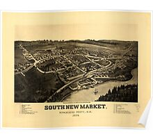 Panoramic Maps South-New-Market Rockingham County NH 1884 Poster