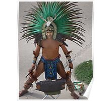 Indian Drummer - Baterista Indígena Poster