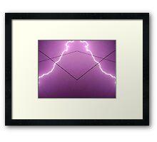 Lightning Art 002 Framed Print