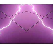 Lightning Art 002 Photographic Print