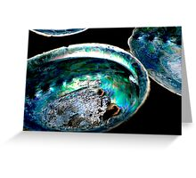 Paua Shells Greeting Card
