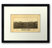 Panoramic Maps Hinsdale Mass Framed Print